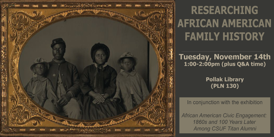 Details for the 2017 African American Family History Research class