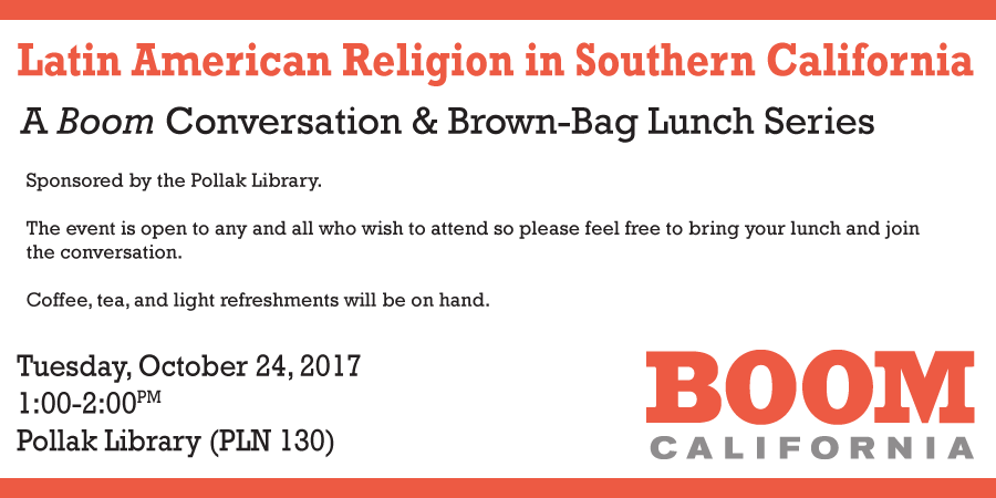 Details for the October 2017 Boom brown bag