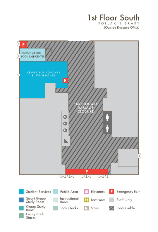 Library South First Floor map