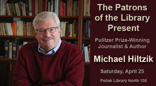 Pulitzer Prize Honoree to Speak at Pollak Library