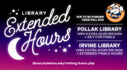 SSi Extended Library Hours