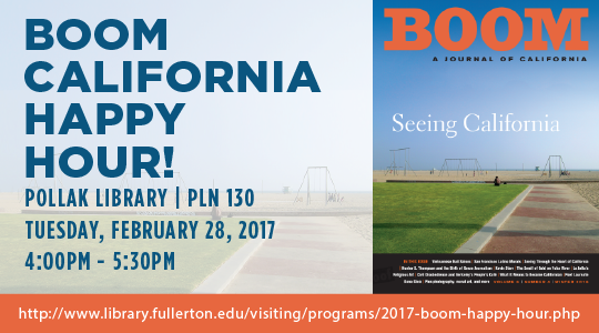 Event details for the Boom February 2017 happy hour