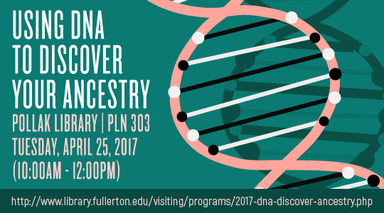 Event details for the 2017 DNA Day program