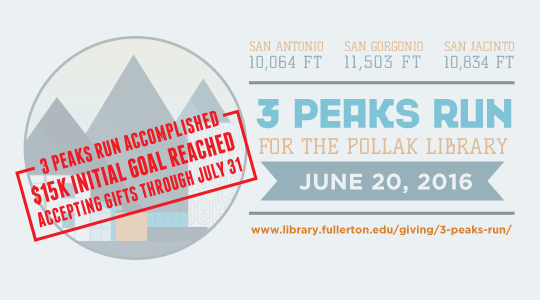 3 Peaks Run for the Pollak Library