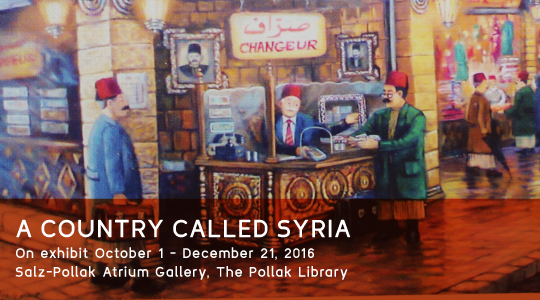 Promotional graphic for the A Country Called Syria exhibit