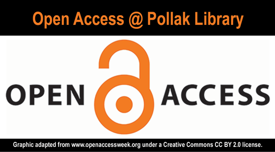 Promo graphic for Open Access at Pollak Library