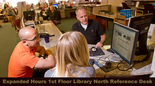 New Reference Desk Hours 1st Floor North