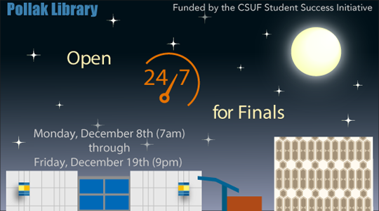 Fall 2014 Final Exam Extended Hours and Study Space