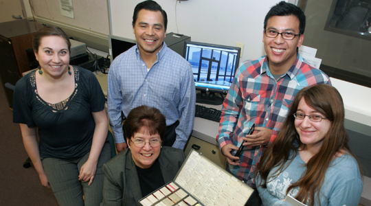 Susan Tschabrun and her digitization team