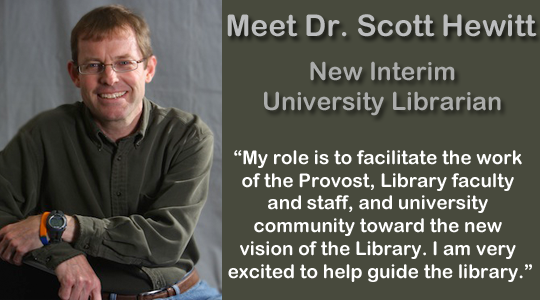 Interim University Librarian Scott Hewitt