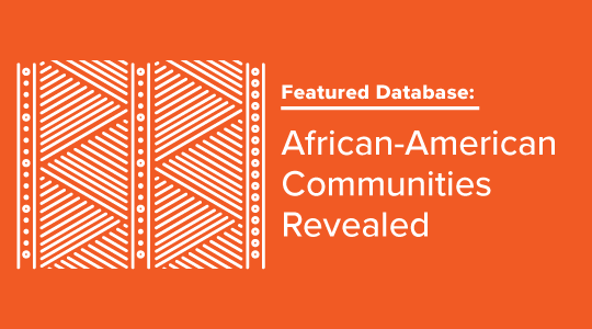 African-American database promo graphic