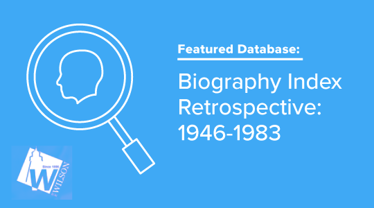 Biography database promo graphic