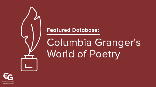Promo graphic for the World of Poetry featured database