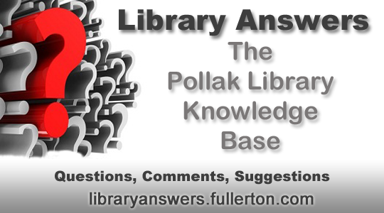 Library Answers FAQs