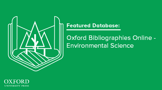 Featured database promo for the Oxford Environmental Science database