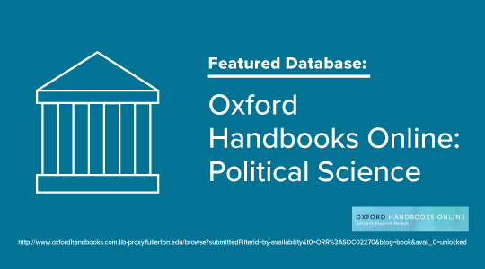 Promo graphic for oxford handbooks database