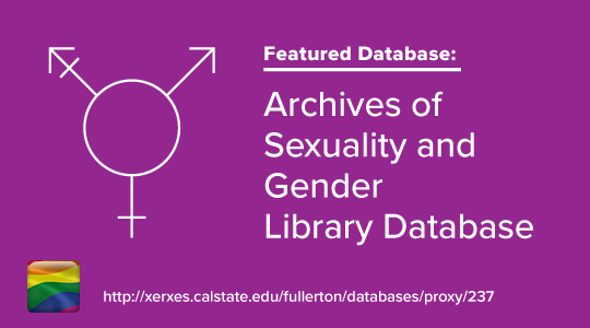 Promo graphic for LGBTQ database