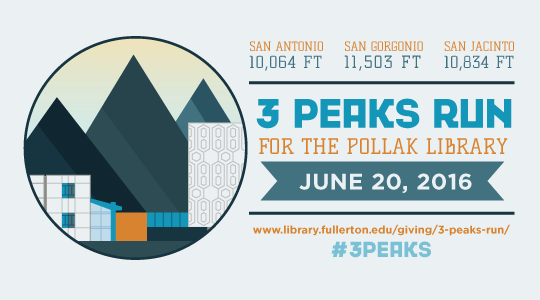 3 Peaks Run for Pollak Library