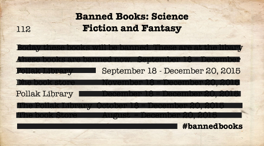 2015 Banned Books Exhibit